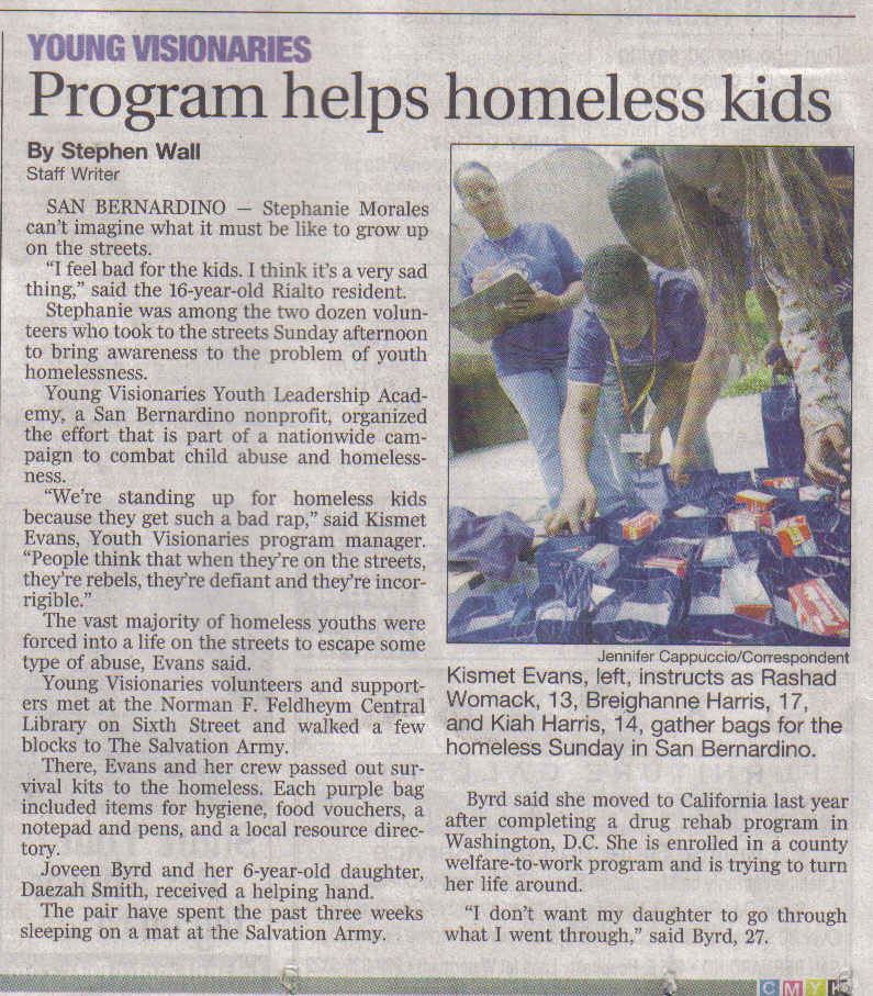 article on homelessness